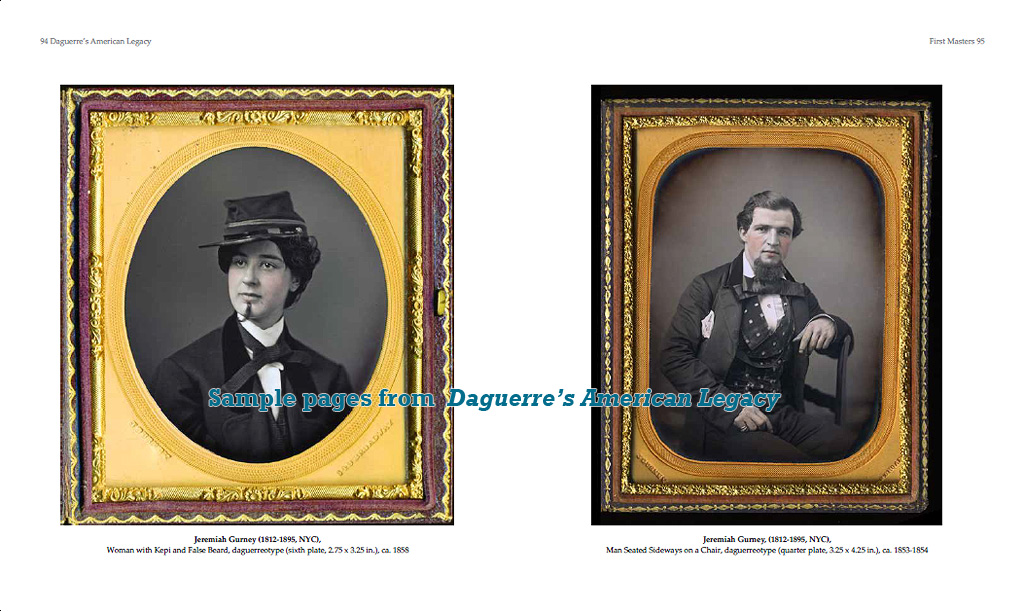 """Daguerre's American Legacy"" sample page with daguerreotypes by Jeremiah Gurney"