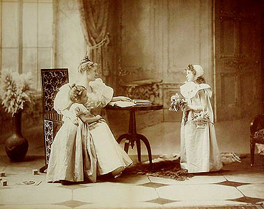 Baker's Art Gallery (Columbus, Ohio):  Mother and Daughters.  Mammoth plate albumen print, 16 x  20 inches, 1896